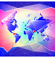 World map abstract background vector image