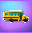 yellow toy school bus vector image