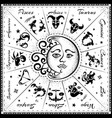 zodiac signs horoscope vector image vector image
