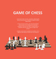 banner with chess pieces on a chessboard vector image