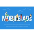 Mobile ads concept vector image