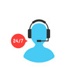 support service with user icon vector image