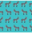 donkey pattern vector image