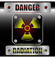 Set symbols radioactive danger vector image