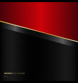 abstract diagonal black and red template vector image vector image