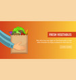 bag vegetables banner horizontal cartoon style vector image vector image