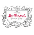 banner meat products vector image