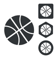 Basketball icon set monochrome vector image