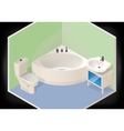 Bathroom isometric flat 3d vector image vector image