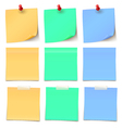 Beauty Post-it note Collection col-02 vector image vector image