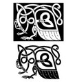 bird and snake in celtic style vector image vector image