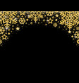 black christmas card with frame of golden vector image vector image