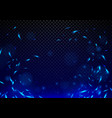 blue flames and fire background vector image