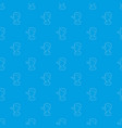 boy with a long nosen pattern seamless blue vector image vector image