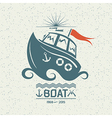 Brave small boat vector image vector image
