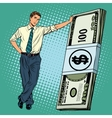 Business man with money vector image vector image