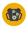 Car engine flat icon vector image vector image