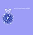 christmas ball 4 vector image vector image