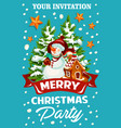 christmas holiday celebration party invitation vector image vector image