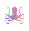 colorful octopus icon on white background vector image vector image