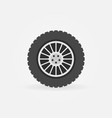 custom car wheel flat icon vector image vector image