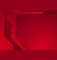 dark red abstract futuristic technology background vector image vector image