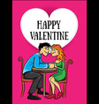 dating young couple Valentine postcard vector image vector image