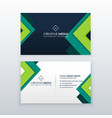 elegant business card design for your profession vector image vector image