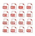 File Icons concept for design vector image vector image