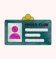 flat shading style icon personal card sports club vector image vector image