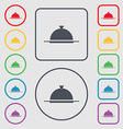 Food platter serving sign icon Table setting in vector image vector image