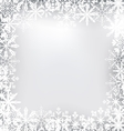 Frozen Frame Made of Snowflakes for Merry vector image