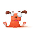 funny cute crazy dog vector image vector image