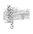 gifts for the gardener text background word cloud vector image vector image