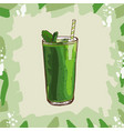 green smoothie recipe menu element for cafe or vector image vector image