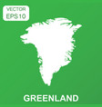 greenland map icon business concept greenland vector image vector image