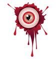 Halloween Bloody Eyeball9 vector image vector image