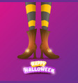 happy halloween party poster with women vector image