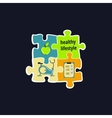 Healthy lifestyle symbol vector image vector image