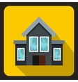 House with broken windows icon flat style vector image vector image