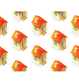 Houses on white background vector image
