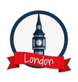 Isolated london big ben design vector image vector image