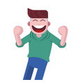 laughing young man vector image vector image