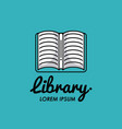 library identity symbol vector image