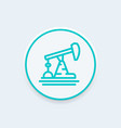 oil pump derrick line icon vector image