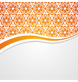 orange and white floral background vector image vector image