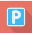 Parking symbol vector image