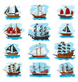 piratic ship pirating boat vessel sailboat vector image