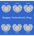 Postcard happy Valentines day vector image vector image
