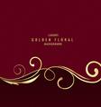 Premium luxury floral background vector image vector image